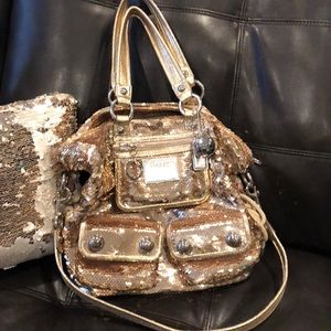 Limited Edition Gold Sequin Coach Poppy Purse